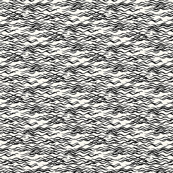 Composition Wavy Lines Black on Cream
