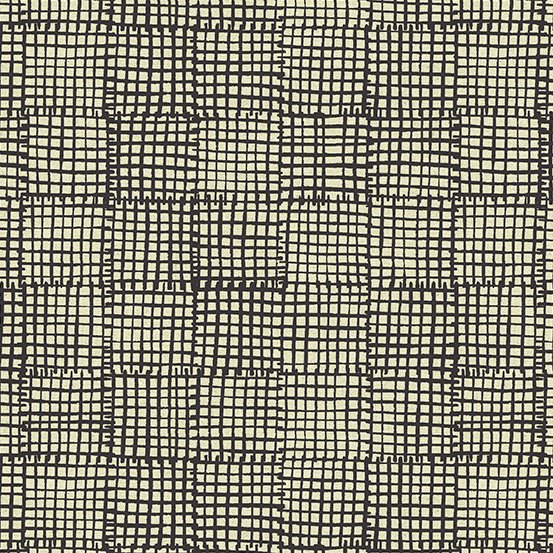 *Maker Maker black square on tan linen
