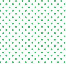 Crazy For Dots & Stripes Green Dots on White