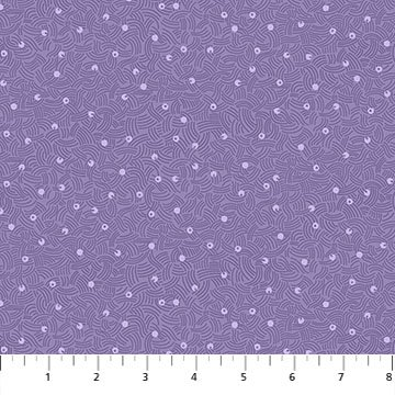 Elements Air Purple curved lines and dots