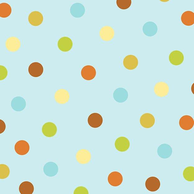 Hedgehugs dots on blue