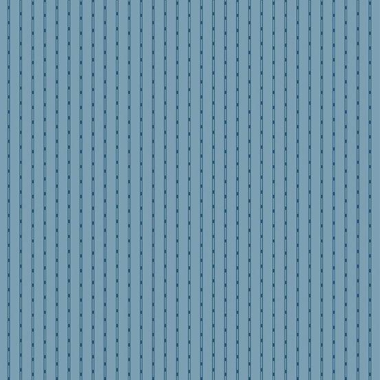 Blue Sky Blue Dashes & Stripe on Blue