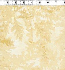 Autumn Splendor cream leaf tonal