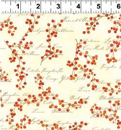 Autumn Splendor berries on cream