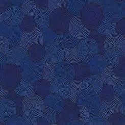108 Blue Swirls Wide Backing