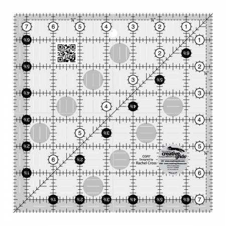 Creative Grids 7.5 in. square ruler