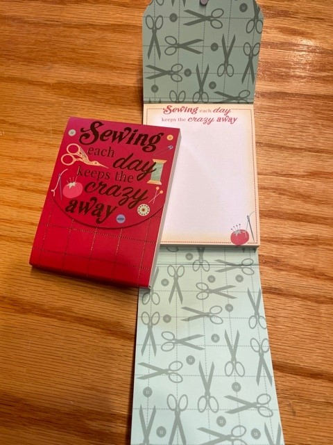 Sewing Each Day Keeps the Crazy Away Pocket Notepad