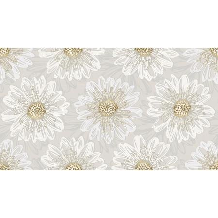 *Shiny Objects Good As Gold Embossed Blooms Pearl Metallic