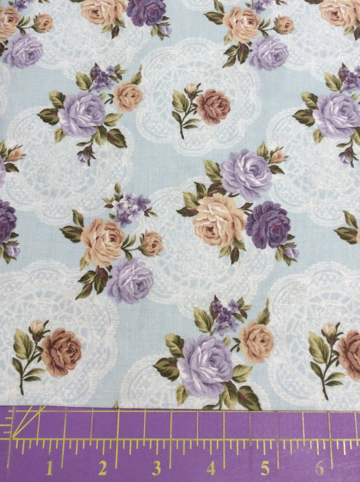 *Bedford Place Med Floral on blue