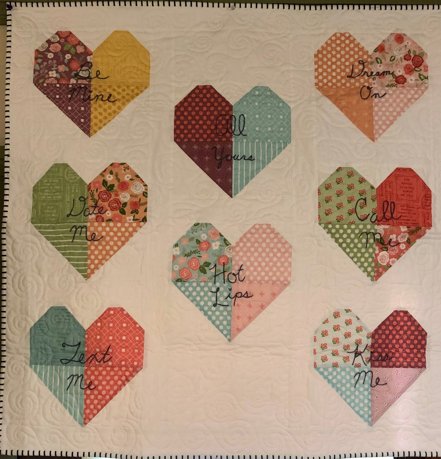 *Candy Hearts Quilt Kit
