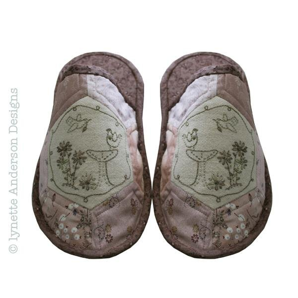 Birdbath Slippers by Lynette Anderson Designs