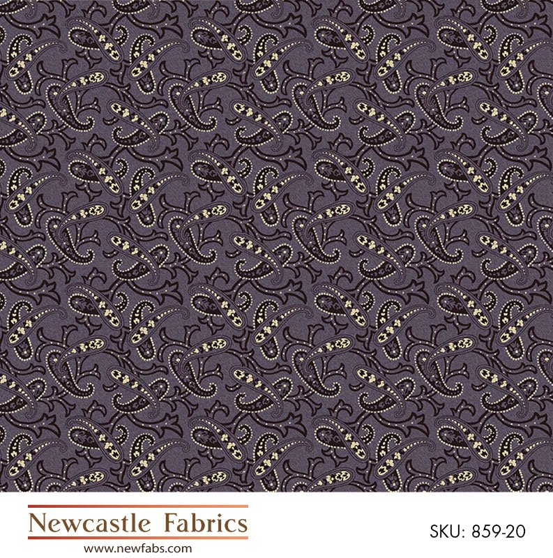 Mourning Grays paisley on lavender