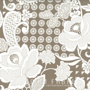 *Simply Eclectic Taupe Floral and Geometric