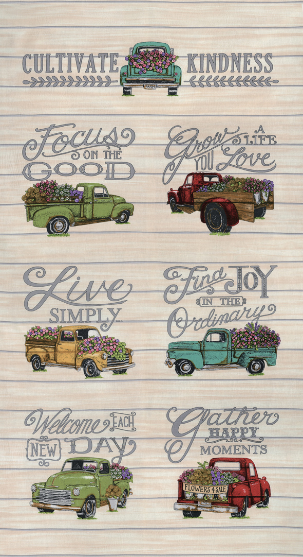 Cultivate Kindness Vintage Tan truck panel