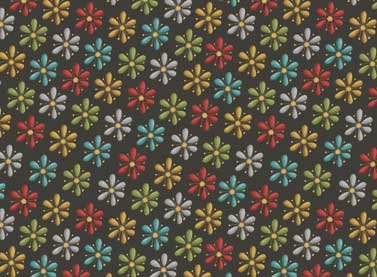 Purrsnickitty MultiColor Flowers on Dark Gray
