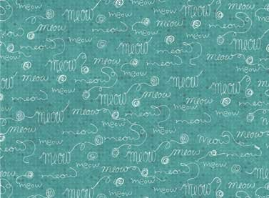 Purrsnickitty Words on Teal Tonal
