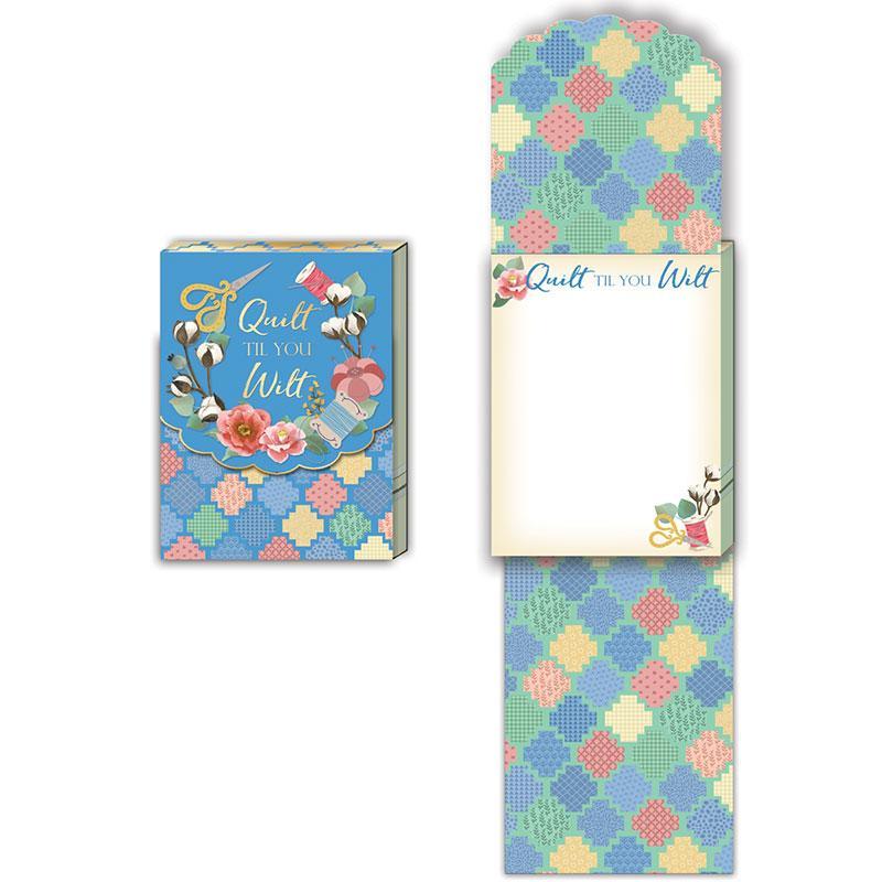 Quilt Til You Wilt Pocket Notepad