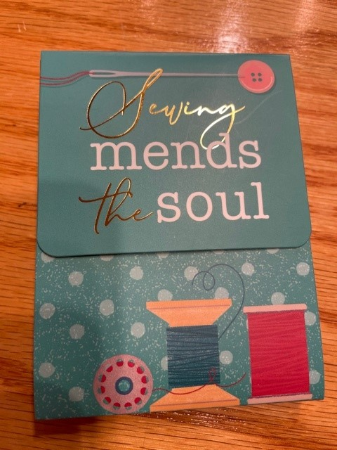 Sewing Mends the Soul Pocket Notepad