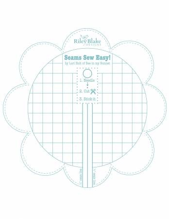 Seams Sew Easy Seam Guide by Lori Holt - Aqua