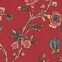 Hamilton Smaller Floral on Red