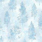 *A Winter's Sky Ice Blue/Silver light blue trees on ice blue
