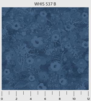 Whisper blue flower tonal