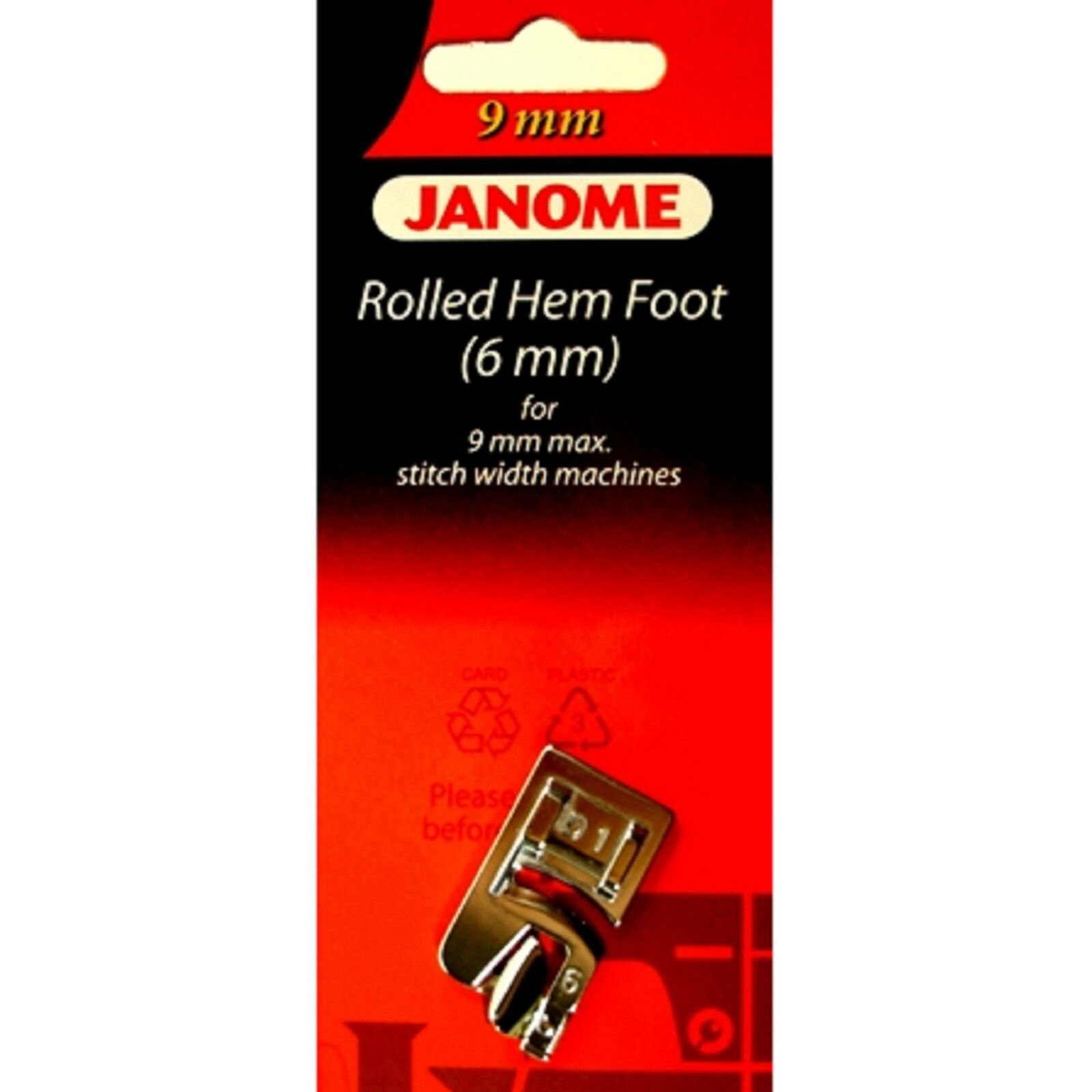 Janome Rolled Hem Foot 6 mm