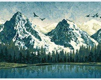 Mountain Wilderness Blue Panel