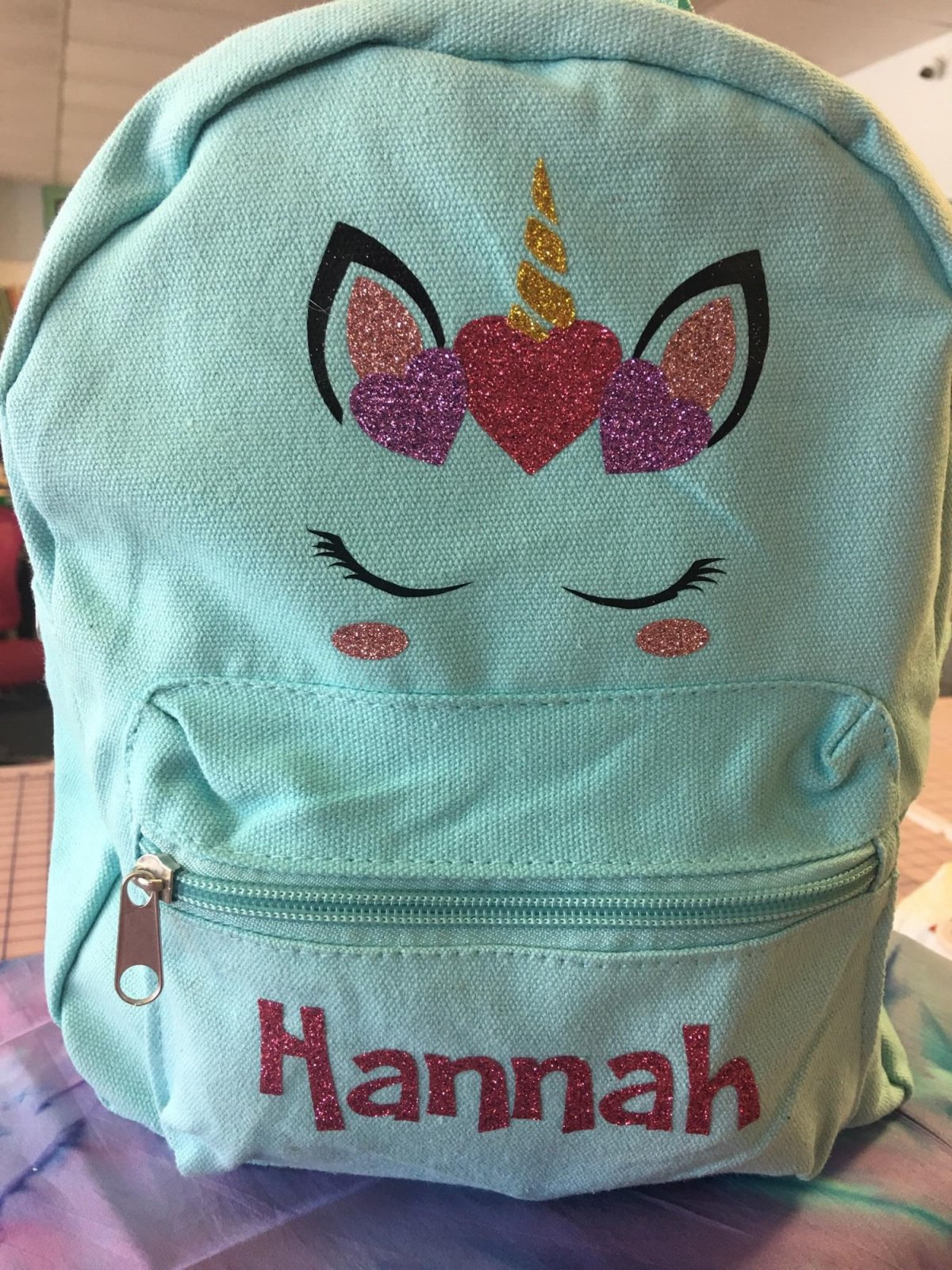 e5023c107e Glitzy Unicorn Mini Backpack With VInyl