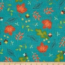 Home For Harvest Teal/Orange Flower