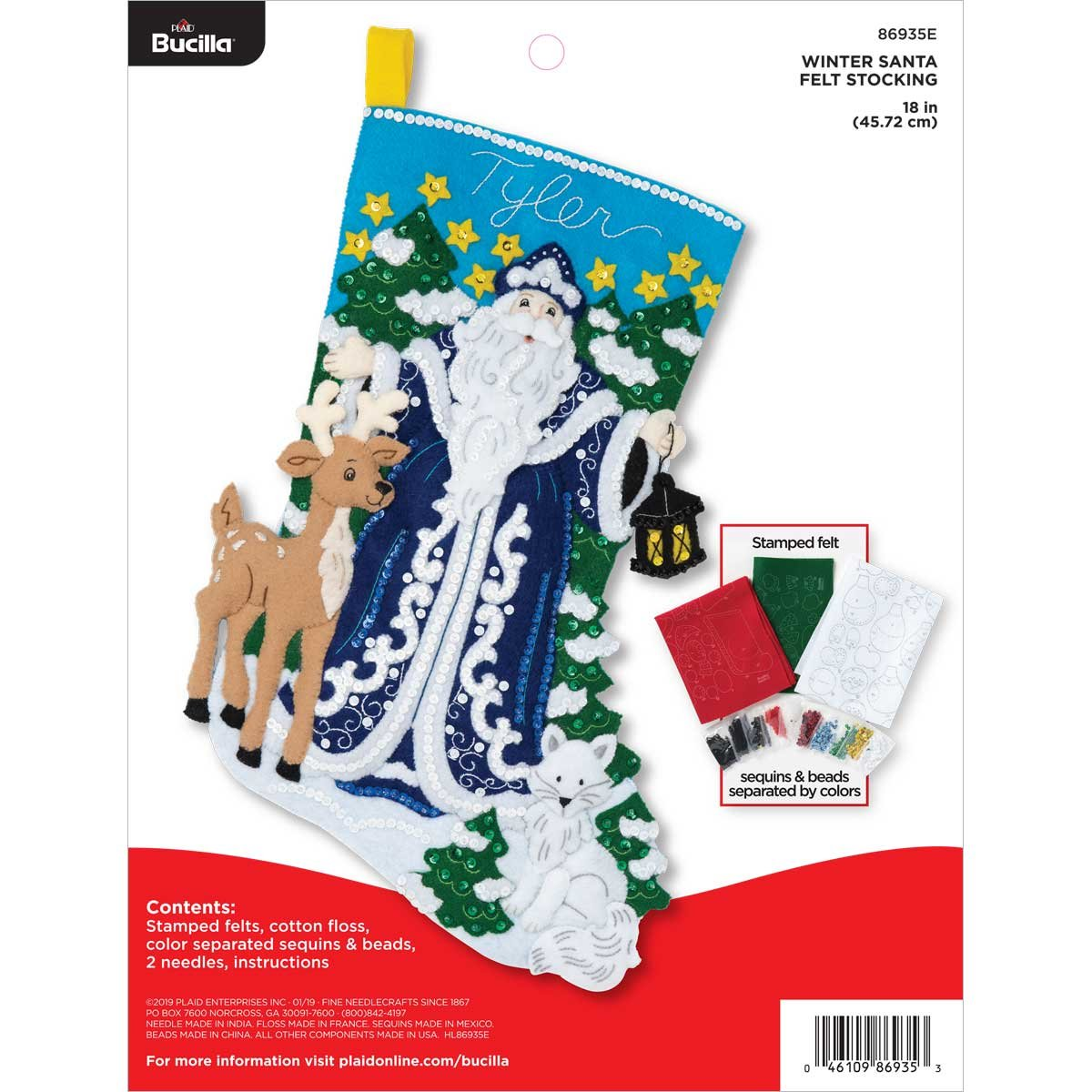 Bucilla Winter Santa Stocking Kit