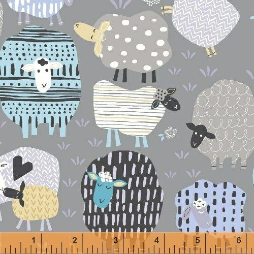 Bah Bah Baby Lambs Grey