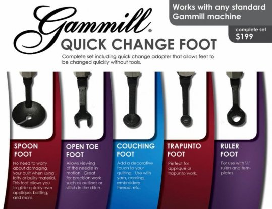 Quick Change Feet Gammill