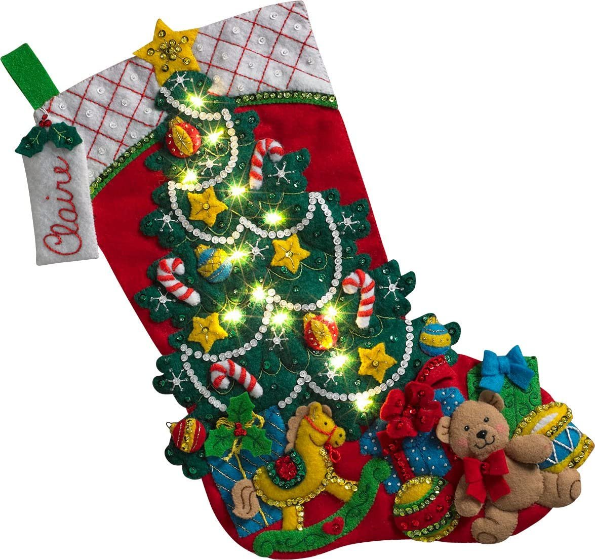Bucilla Christmas Tree Surprise - with lights