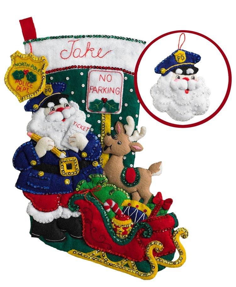 Bucilla Officer Santa Stocking Kit