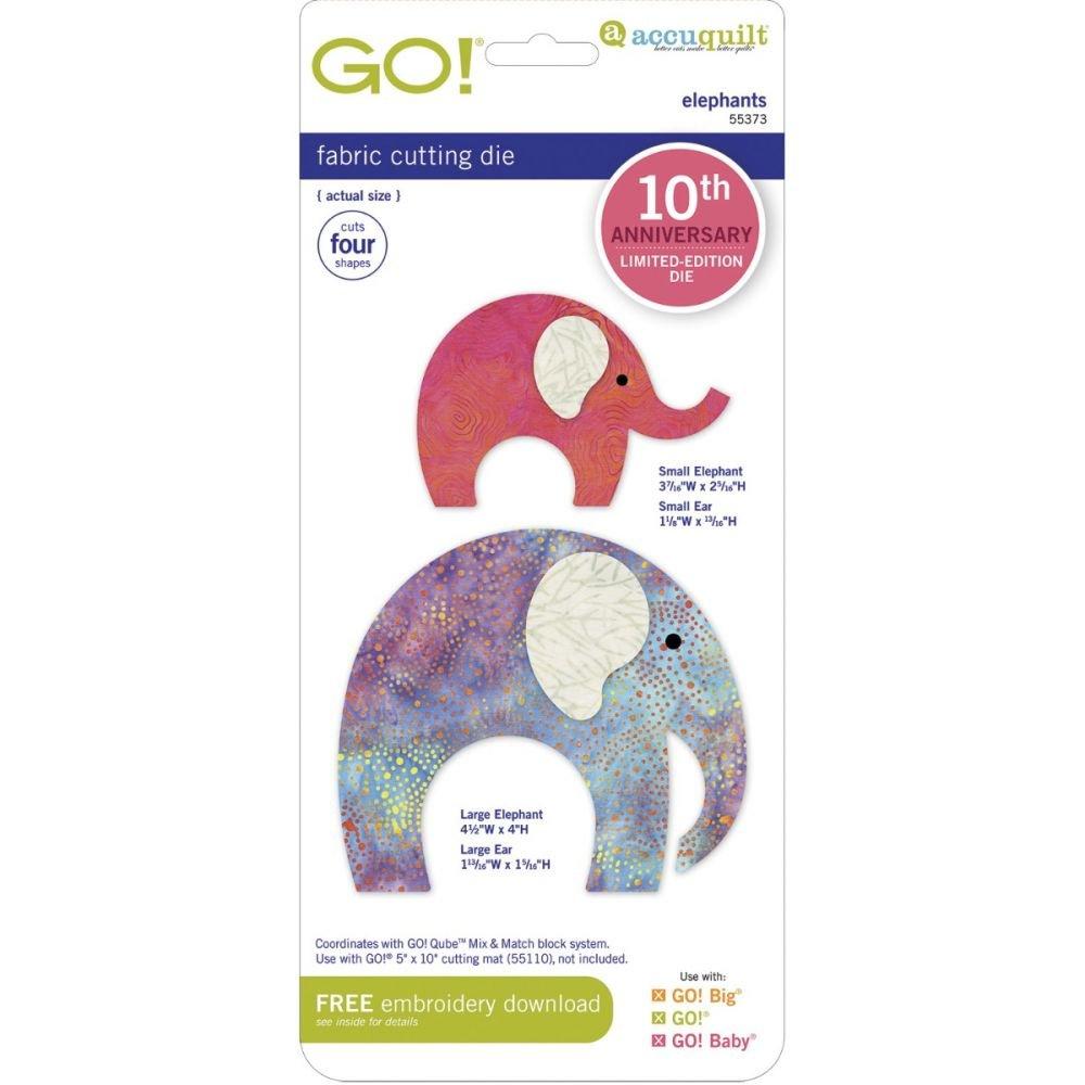 Accuquilt GO! 55373, Elephants