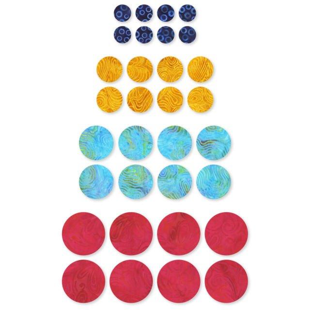 Accuquilt GO! 55484, Circle 1/2, 3/4, 1, 1 1/4