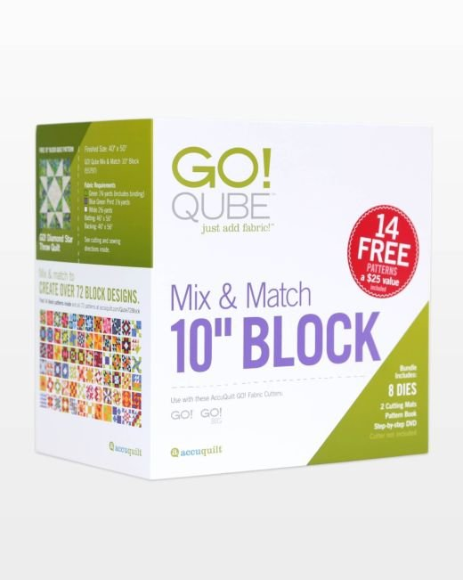Accuquilt Go! 55797 Qube Mix & Match 10 Block