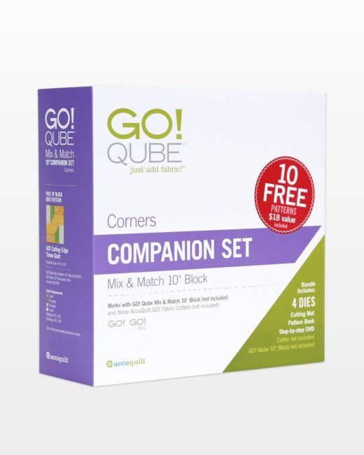 Accuquilt GO! 55798 Qube 10 Companion Set-Corners