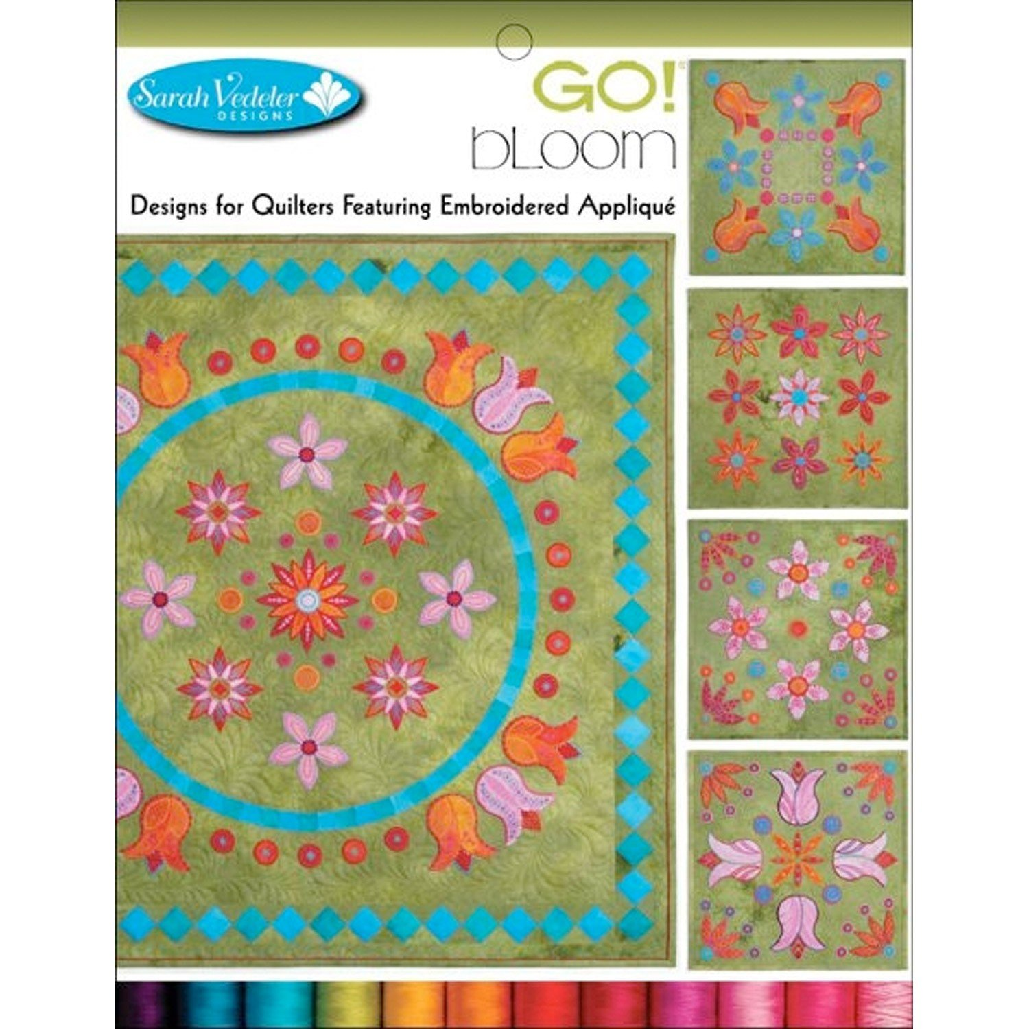 Accuquilt GO! Bloom Embroidered Applique Designs CD