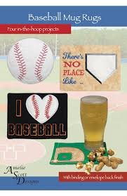 Baseball Mug Rugs