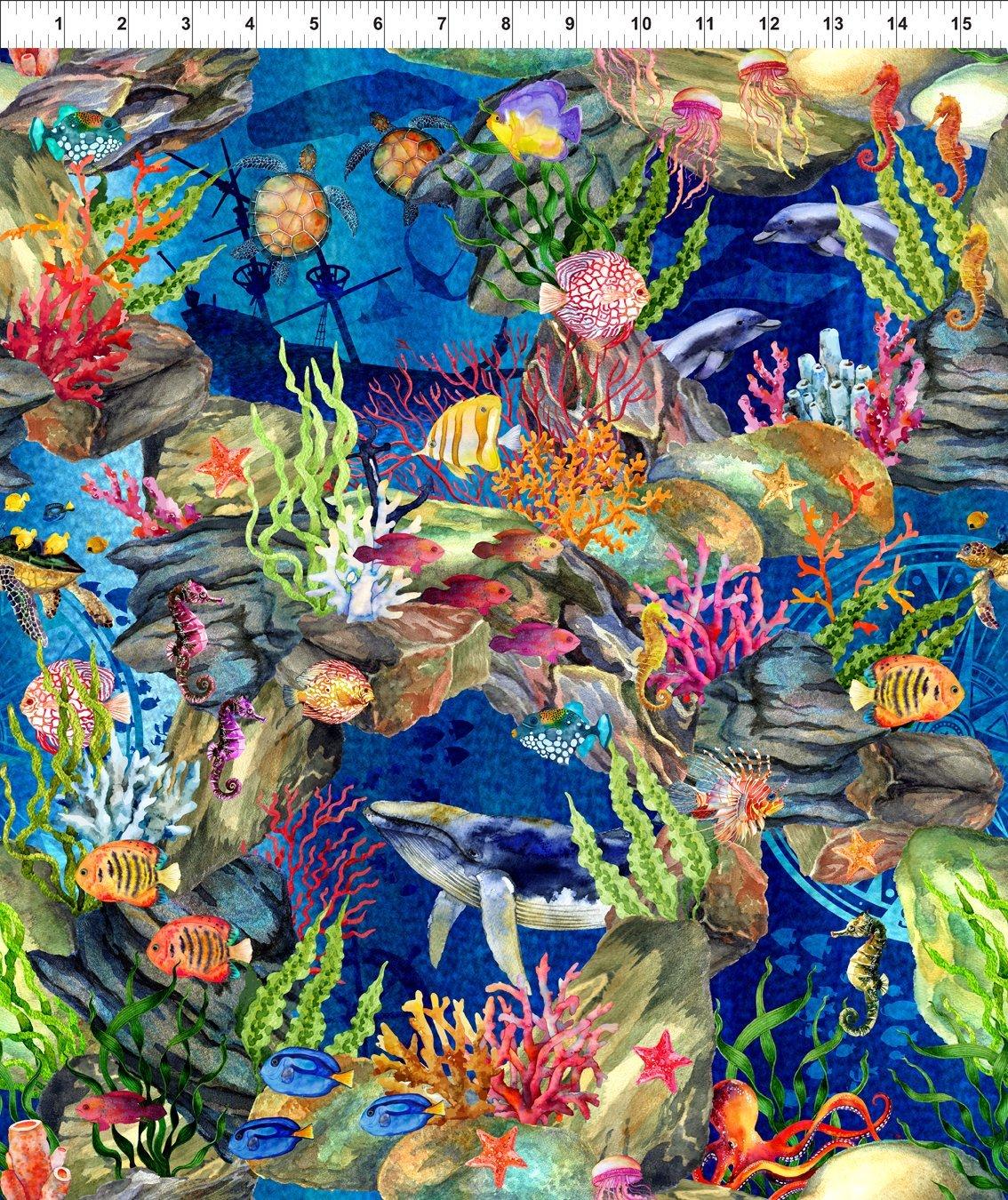 Calypso Sea Animals Blue