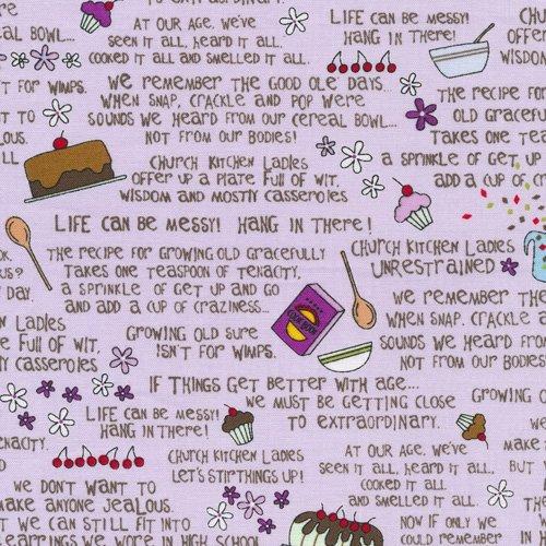 Church Kitchen Ladies Words Purple