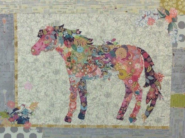 Confetti Collage Horse Pattern by Laura Heine