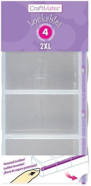 CraftMates Lockables 4 compartment  Organizer - purple Lock Bar