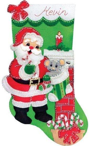 Bucilla Santa with Mouse