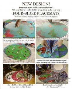 Several Settings 4-Sided Placemat Pattern & Template