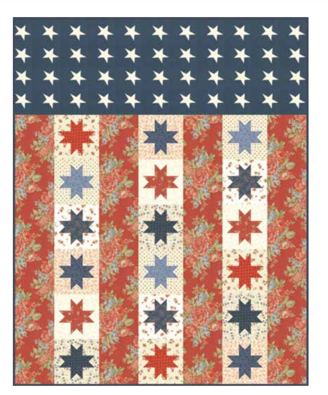 FREE Pattern -Flag of Valor by Minnick and Simpson