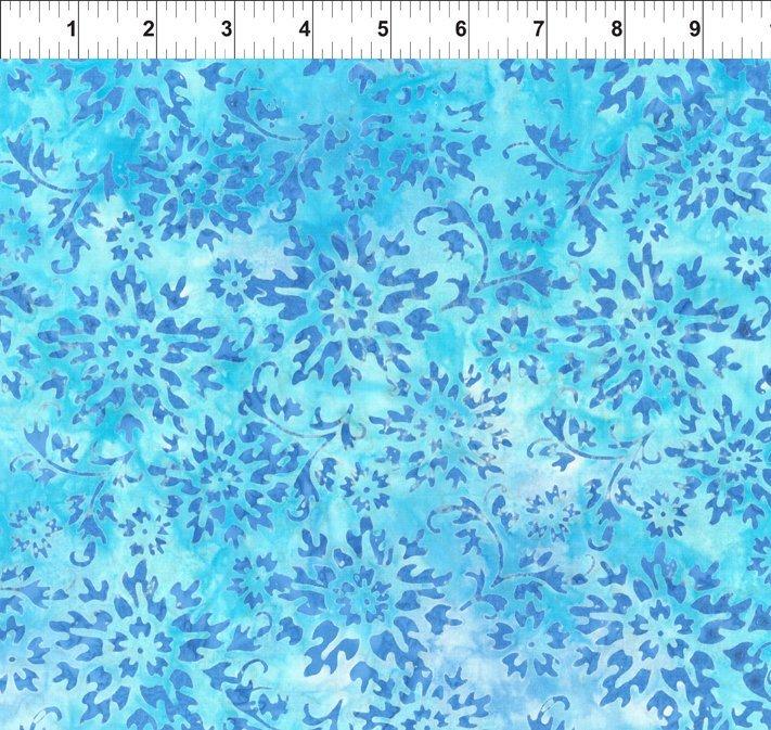 Floragraphix Batiks IV Blue Flowers
