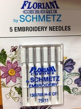Floriani Chrome Embroidery Needles 75/11